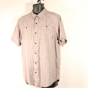 Columbia Button Up Short Sleeve Shirt M